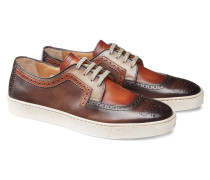 Niedriger Sneaker aus Leder
