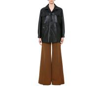Oversize-Damenjacke aus Leder
