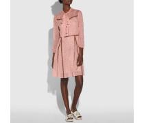 Kleid mit Stern-Print und Knopfleiste