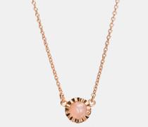 Sonnen-Halskette mit 18-Karat-Goldlegierung und Schmucksteinen