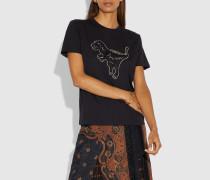 T-Shirt mit Rexy-Stickerei