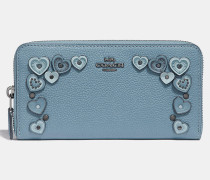 Akkordeon Portemonnaie mit ReiBverschluss und Herzen