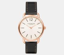 Delancey Armbanduhr mit schmalem Lederarmband