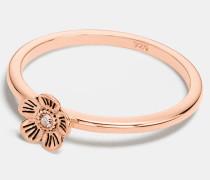 "Mini Tea Rose""-Ring mit 18kt Goldlegierung"