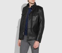 M65 Jacke aus poliertem Leder