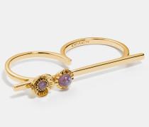 Sonnen-Ring mit 18-Karat-Goldlegierung und Balken