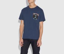 Bandana-T-Shirt im Patchwork-Stil