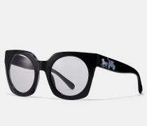 Sonnenbrille im Pferdekutschen-Design mit Hologramm