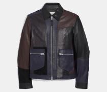 Jacke aus Leder-Patchwork