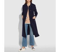Doppelseitiger Mantel aus Wolle