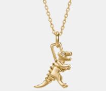 Mini Rexy Halskette mit 18-Karat-Goldlegierung