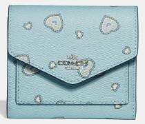 Kleines Portemonnaie mit Western Herz-Print