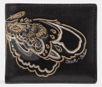 Doppelt gefaltetes Portemonnaie mit Tattoo