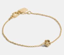"""Feines Willow Floral"""" -Armband mit 18-Karat-Goldlegierung"""