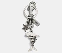 Taschenanhänger mit Sharky Skelett