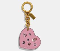 Embellished Heart Bag Charm