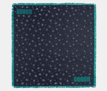 Quadratisches Seidentuch mit Sternenprint