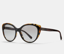 Katzenaugen-Sonnenbrille mit Abgeschrägten Kanten