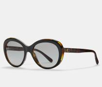 Ovale Sonnenbrille mit abgeschrägten Kanten