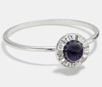 Sonnen-Ring aus Sterlingsilber mit Schmucksteinen