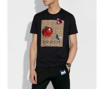 Disney X Charakteristisches T-Shirt mit Aufnähern