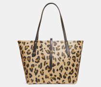 Market Tote mit Leoparden-Print