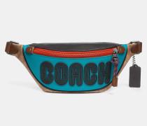 Rivington 7 Gürteltasche aus charakteristischem Colourblock-Canvas mit Coach-Print