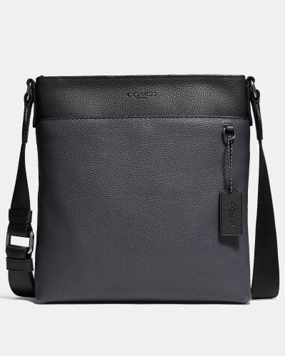 Schmale Metropolitan Messenger-Tasche in Blockfarben