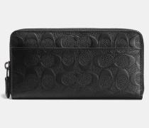 Accordion Wallet In Signature Crossgrain Leather