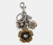 Bunter Taschenanhänger im Teerosen-Design