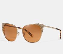 """Katzenaugen-Sonnenbrille mit Tea Rose""""-Metalldetails"""