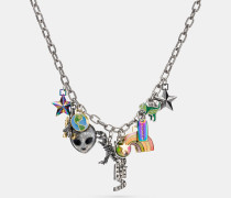 Clustered Space Charms Necklace