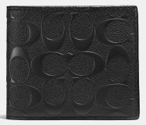 3-in-1-Portemonnaie aus charakteristischem quer genarbtem Leder