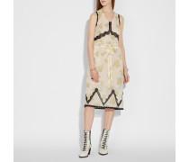 Ärmelloses Kleid mit Waldblumen Print