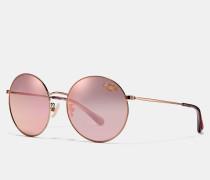 Runde Sonnenbrille mit dünnem Metallrahmen