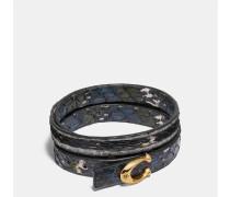 Armband in Schlangenleder mit Logo