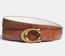 Geformter Wendegürtel aus charakteristischem Leder