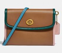 Portemonnaie mit Umschlag und Drehverschluss in Colorblock