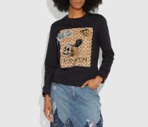 Disney X Charakteristisches Sweatshirt mit Aufnähern