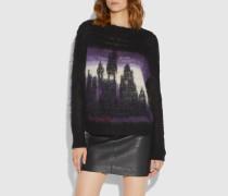 Oversize-Pullover mit Batikmuster und Rundhalsausschnitt