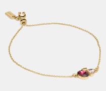 Charakteristisches Armband mit Kristallcluster und Schiebeverschluss