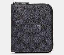 Kleines Portemonnaie aus charakteristischem Canvas mit Rundum-ReiBverschluss