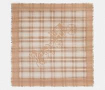 Karierter quadratischer Oversize-Schal im Pferdekutschen-Design