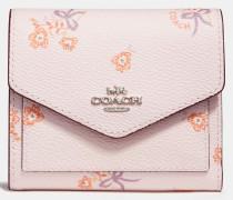 Kleines Portemonnaie mit Blumen- und Schleifen-Print