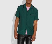 Einfarbiges kurzärmliges Hemd