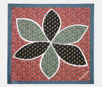 Patchwork-Taschentuch mit Margeriten-Print im Rahmen