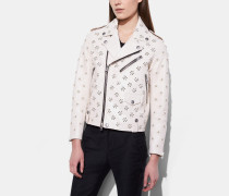 Moto Jacket With Whipstich Eyelet