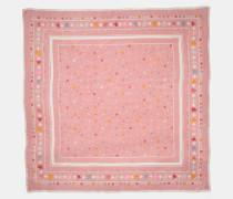 Quadratischer Oversize-Schal mit Blumen- und Bandana-Print