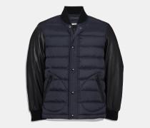 Leichte College-Jacke aus Daunen und Leder