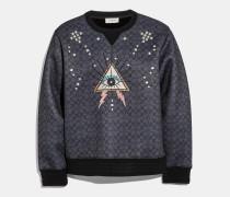 Charakteristisches Sweatshirt mit Pyramiden-Augen-Muster